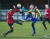 Vánoční utkání SFC - stará garda Slezského FC vs. výběr mládežnických trenérů klubu.