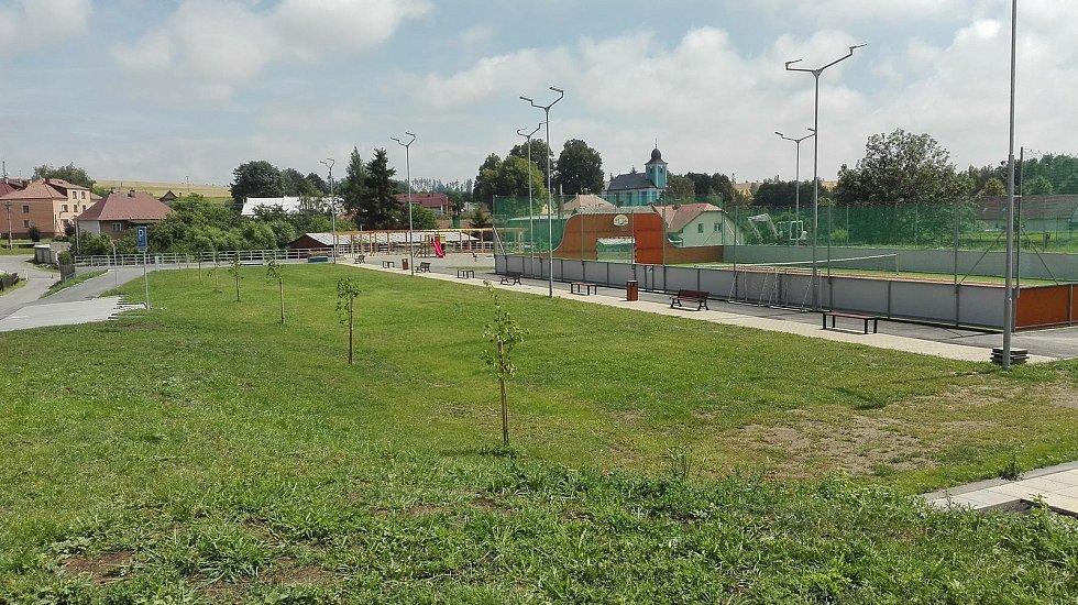 Sportovně-rekreační areál.