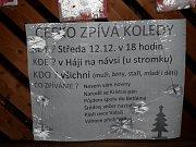 Akce Deníku Česko zpívá koledy v Háji ve Slezsku v roce 2018.