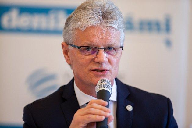 Setkání Sdružení obcí Hlučínska, 17.dubna 2019vKravařích. Na snímku Herbert Pavera.
