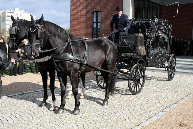 Pohřeb Josefa Hájka.