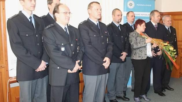 Ocenění titulem Policista roku na úterním slavnostním předávání v prostorách opavské radnice.