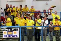 Přibližně třicet fanoušků přijelo povzbudit opavské basketbalisty do Nového Jičína.