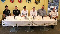 Tisková konference Slezského FC Opava před zahájením podzimní části sezony 2017/18.