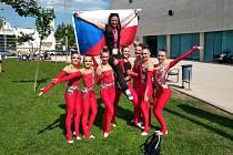 Gymnastky z Opavy.