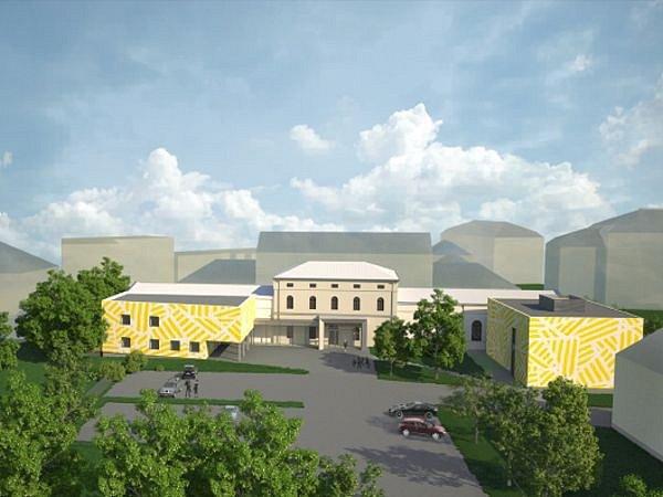V rámci rekonstrukce univerzitní budovy na ulici Hauerova vzniknou i nové prostory s ateliérem nebo sálem.