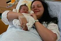 Prvním miminkem opavské nemocnice roku 2011 se stal David Wolf na Nový rok ve 3.40h. Na snímku s maminkou Zuzanou.