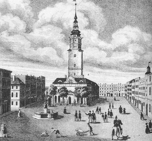 Pohled na Hlásku z roku 1860.