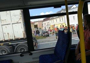 Nehoda na Ostravské ulici v Hlučíně