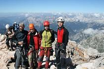 Slovinská expedice. Zleva Radek Pekař, Tereza Havránková, Martin Kardaš a Michal Petr.