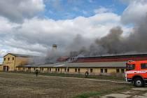 Sedm hasičských jednotek muselo v pondělí krátce před polednem vyrazit do Dolních Životic na Opavsku. Plameny zde totiž pohltily zhruba polovinu objektu bývalého zdejšího vepřína.