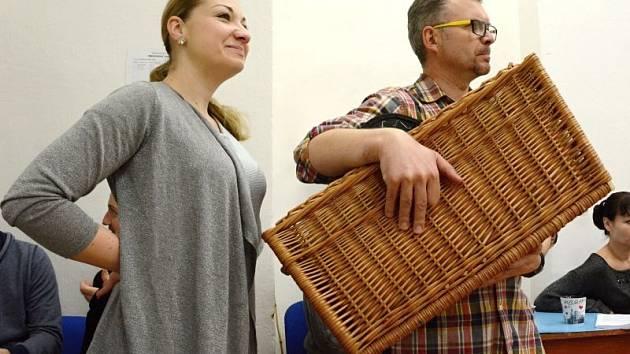 Barbora Řeřichová (dívka), Alexander Vovk (otec). Foto ze zkoušky.