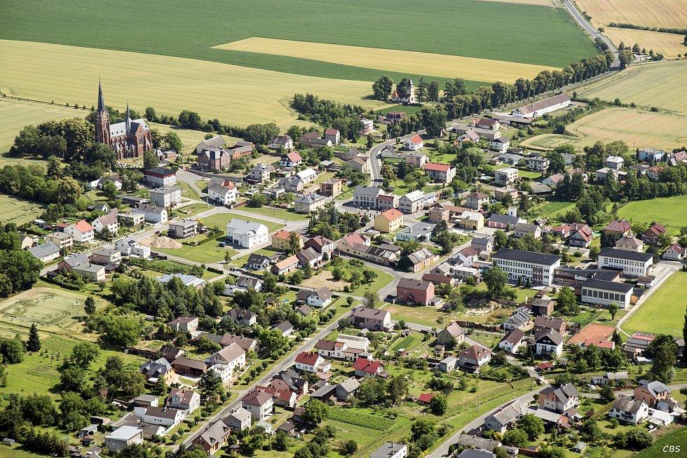 Letecký pohled na Sudice.