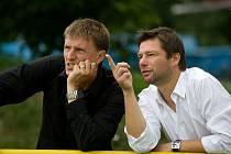 Během letní přestávky prošla Opava řadou změn, a to hlavně ve vedení. Technickým a ekonomickým ředitelem byl jmenován Radim Matýsek (vpravo), sportovním manažerem Daniel Kutty.