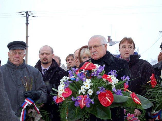 Prezident Václav Klaus navštívil Vítkov.