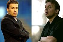 Už spolu netrénují. Současný trenér Nitry Pavel Hapal (vlevo) a jeho kamarád Jiří Neček.