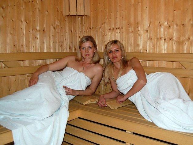 Sauna Charitního Wellness centra.