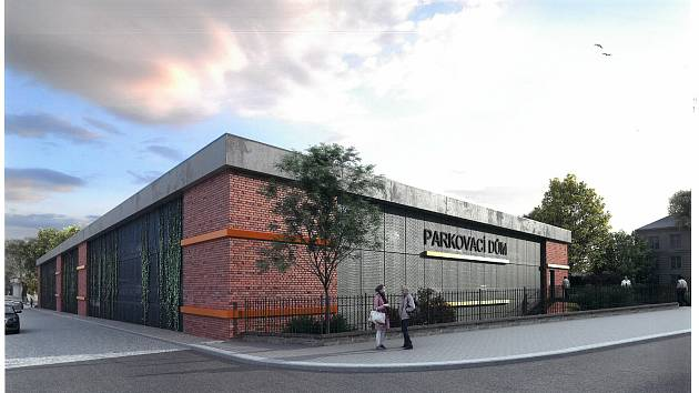 Vizualizace budoucího parkovacího domu.