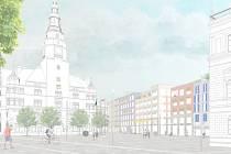 Návrh počítá s tržním náměstím, byty a parkem. Celkově by přišel skoro na tři čtvrtě miliardy. Město by investovalo 130 milionů korun.