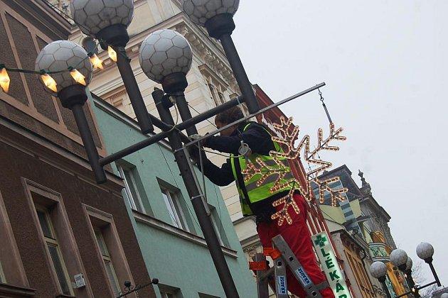 Vánoční osvětlení. Ilustrační foto.