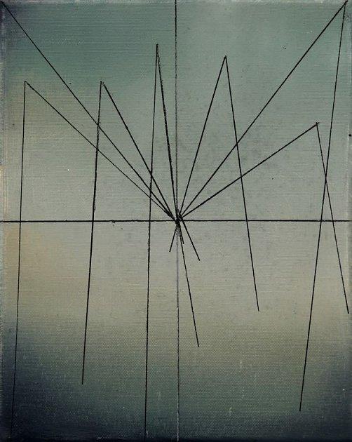 Výřez obrazu z výstavy Prázdný papír Moniky Žákové.