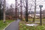 Hradecká lávka ve městě spojuje ulice Pivovarskou a Stránku.