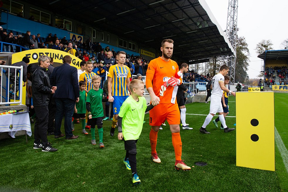 Zápas 13. kola fotbalové FORTUNA:LIGY mezi SFC Opava a 1. FK Příbram.