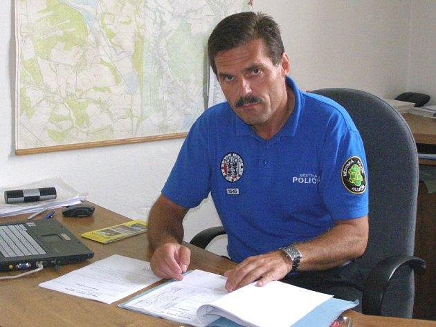 Velitel Městské policie Hlučín Luděk Olšovský.