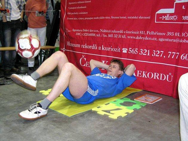 Jiří Kremser  tvoří nový světový rekord.