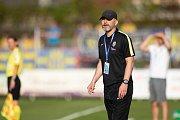 Vlašim - Zápas 23. kola Fortuna národní ligy mezi FC Vlašim a SFC Opava 22. dubna 2018 ve Vlašimi. Roman Skuhravý.