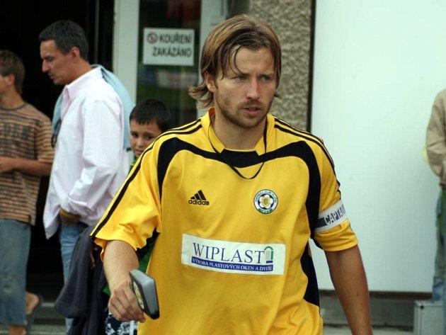 Kapitán Hlučína Marcel Melecký.