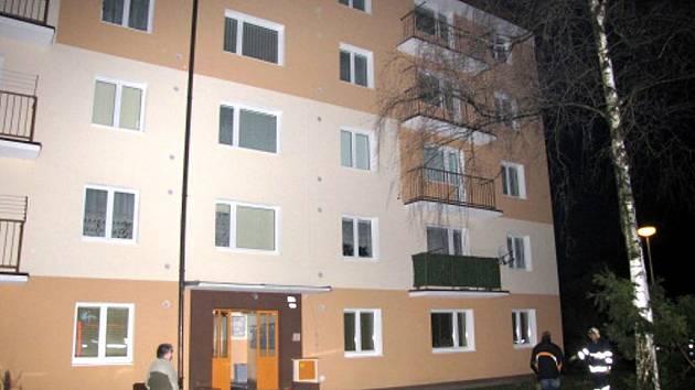 Požár v bytě v Hlučíně.