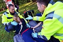 Záchrana raněných byla součástí soutěže.