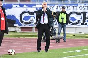Utkání 27. kola druhé fotbalové ligy (Fortuna národní liga): Baník Ostrava vs. MFK Vítkovice, 10. května v Ostravě. Petržela Vlastimil.