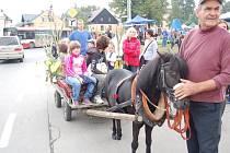 Na slavnosti se děti mohly projet i v nazdobeném kočáře taženém poníkem.