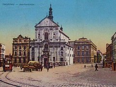 Pohled na kostel z roku 1910.