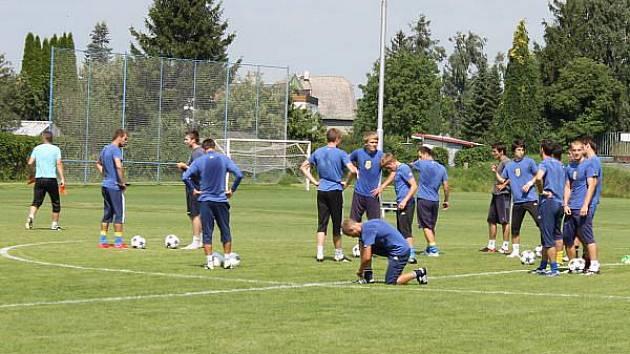 Páteční trénink fotbalistů SFC Opava.
