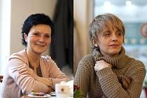 Zdravotní sestřička Vlasta Houžvová (vlevo) a lékařka Eva Dratvová.