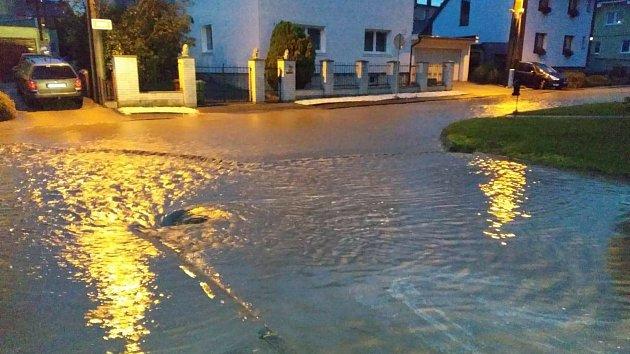 Záplavy v Malých Hošticích