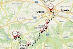Malebným údolím Moravice až ke kružberské přehradě