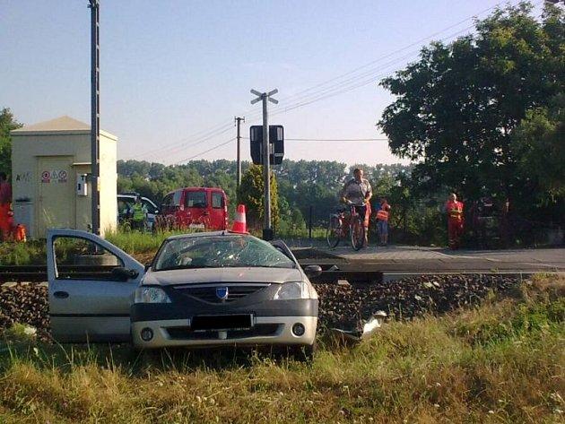 Pondělní nehoda vHáji ve Slezsku-Lhotě.