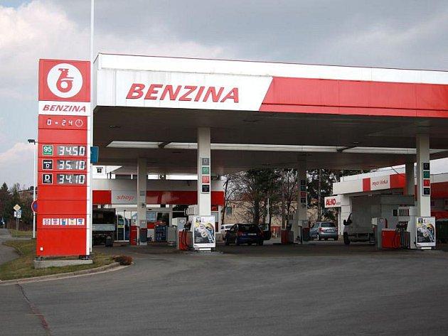 Benizna na Hradecké ulici.