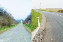 Ze silnice, dříve připomínající cestu v poli, je dnes moderní a pohodlná komunikace.