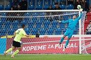 Plzeň - Zápas třetího kola MOL Cupu mezi Viktoria Plzeň a SFC Opava 5. října 2017. Aleš Hruška - p