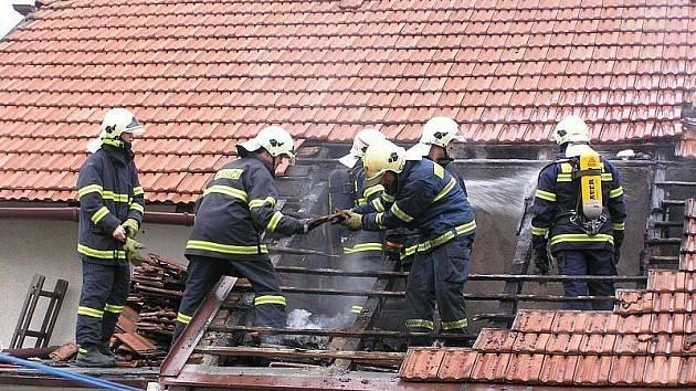 Ludgeřovičtí hasiči v akci.