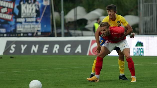 Fotbalový zápas mezi brněnskou Zbrojovkou a Opavou