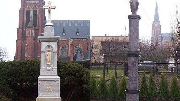Sudicím se podařilo opravit kříž před kostelem a Mariánský sloup na náměstí.