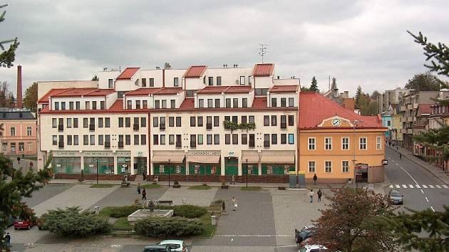 Náměstí ve Vítkově.