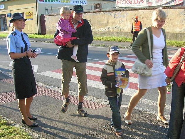 Dopravně bezpečnostní akce na Opavsku v první den nového školního roku.