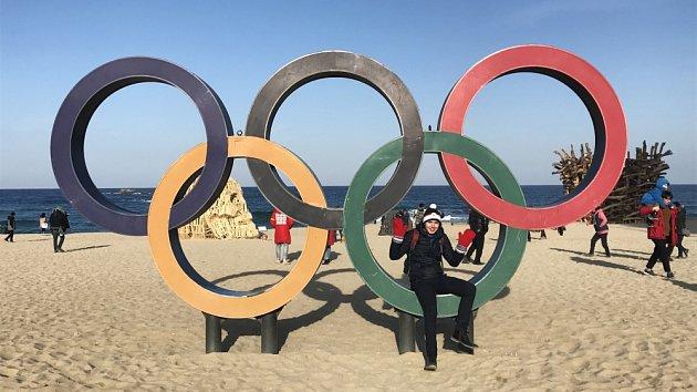 Olympijské kruhy na pláži